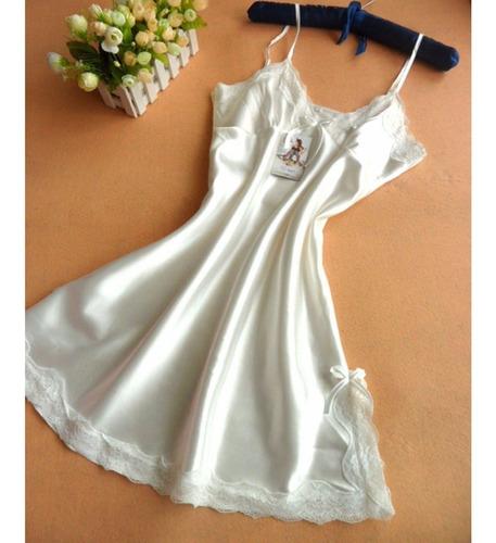 pijama batola blanca mujer sexy sensual nightdress noche