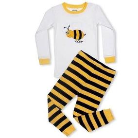 59c987ac7365a1 Pijama Bebê Infantil Abelha Abelhinha Importado - Leveret