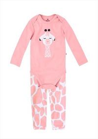8b46e16bf266b3 Pijama Bebê Menina Com Calça E Body Em Ribana Hering Kids