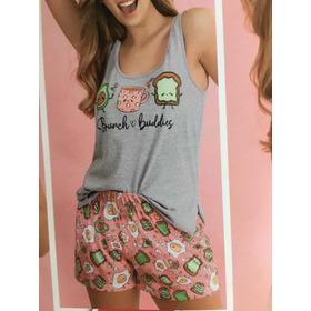 Pijama Brunch Súper Divertido Lencatex