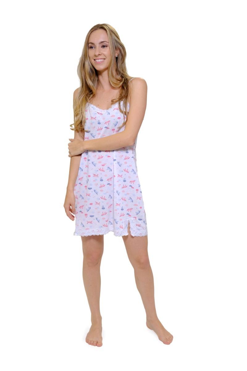 06b5adb02f0deb Pijama Camisola Feminino Unicornio Verão Curto Leve Barato