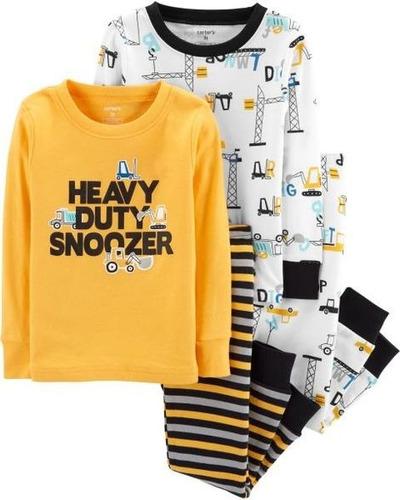 pijama carters algodão 4 peças - 18 meses - 15944210 12x