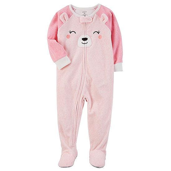 bbac35d7a3d2ff Pijama Carters Macacão Em Fleece Com Pezinho Infantil Menina