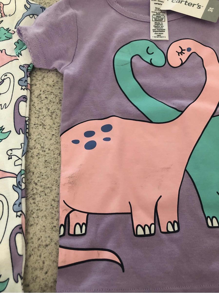 5668b2d6b0 pijama carters niña 3 años dinosaurios 3 piezas envío gratis. Cargando zoom.