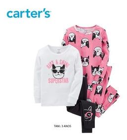 dad33b8403d81e Pijama Carters Original P/ Menina 3 Anos Carter's K