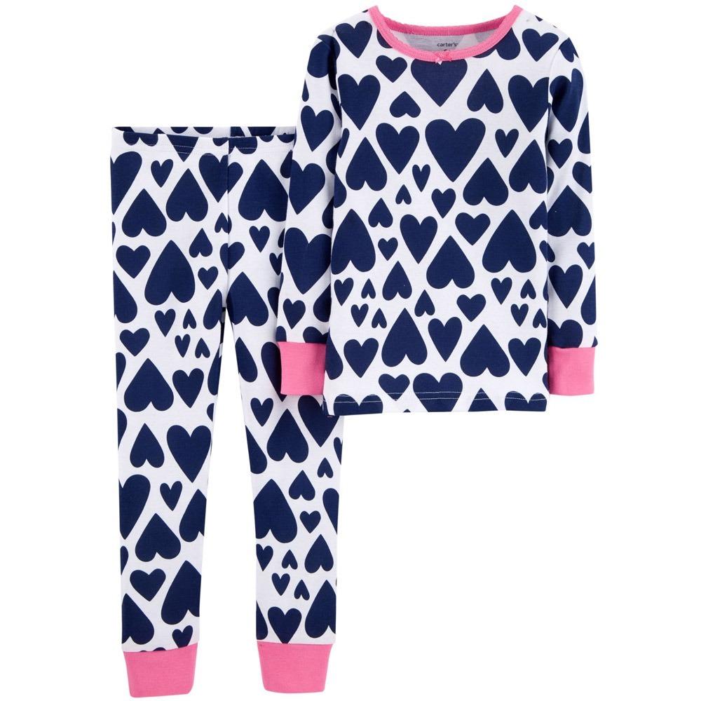 41e6a3bc249001 Pijama Coração 2 Peças 18 Meses Carters - Novo E Original