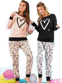 eec02e5f Pijama Corazón De Jersey Mujer Lencatex Art. 9352