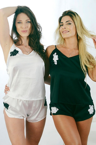 pijama corto seda nochera o algodon pijama lenceria femenina
