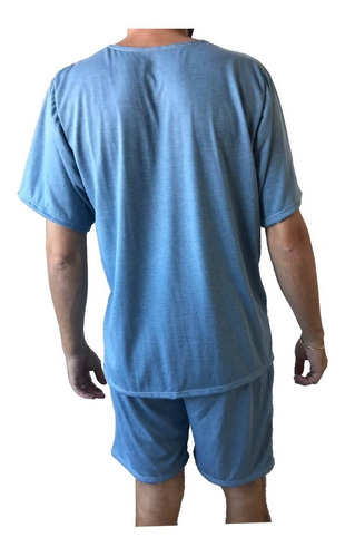 pijama curto masculino manga curta short adulto