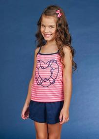 c6c87e0de Short Doll Infantil Demillus Pijamas - Roupa de Dormir no Mercado ...
