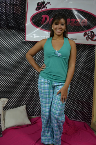 pijama dama pantalon largo normal y plus
