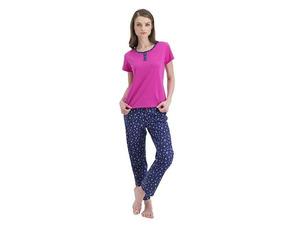 87cf6432c7 Pijama Dama Rosa Pantalon Estampado Azul Playera Rosa (kv167