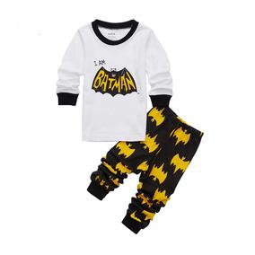 4f1789bc24 Pijama De Batman Blanco Para Niños De 2-7 Años!envio Gratis