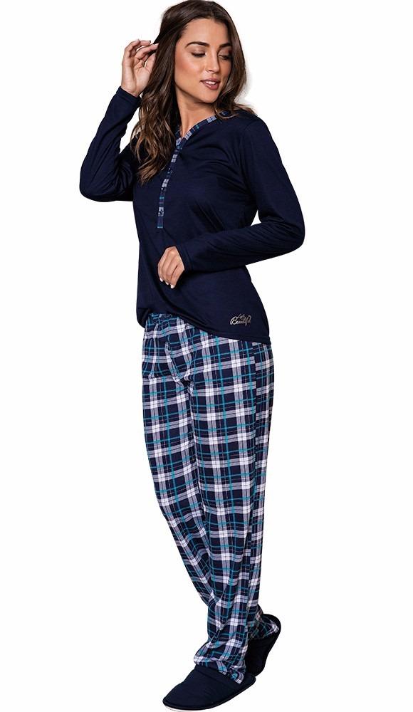 6baab70e0 Pijama De Inverno Feminino Adulto - Luna Cuore 7807 - R  79