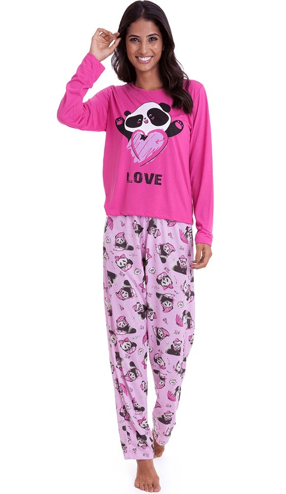 e62a8d8a1c pijama de inverno feminino adulto panda - luna cuore 0519. Carregando zoom.