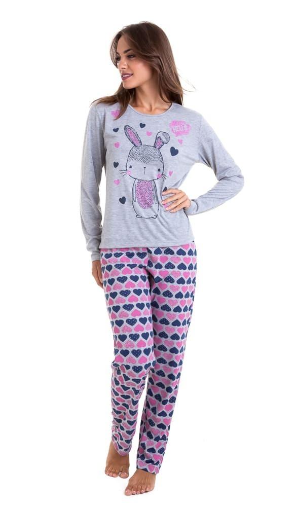 111415c0a pijama de inverno manga longa feminino - luna cuore 0513. Carregando zoom.