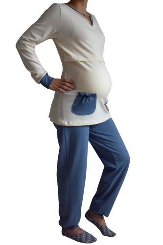 pijama de invierno lactancia y maternidad