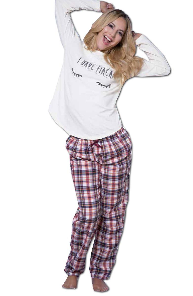 Pijama De Invierno Mujer Natubel Pantalón Cuadrillé Art 3008 - $ 618 ...