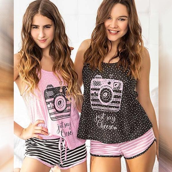 2b42ac381e Pijama De Mujer Musculosa Y Short Bianca Secreta 20104 -   750