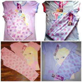 e386ec9d9e Pijama De Niña Algodon Conjunto Princesa Barbie