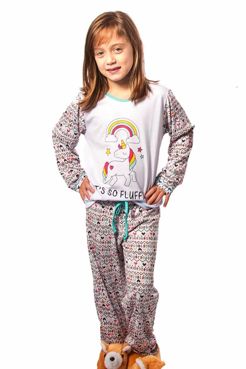 1cea772e0 pijama de unicornio infantil comprido longo com calça. Carregando zoom.