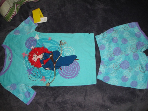 pijama disney de brave merida 2 piezas talla 6 ( 244 )