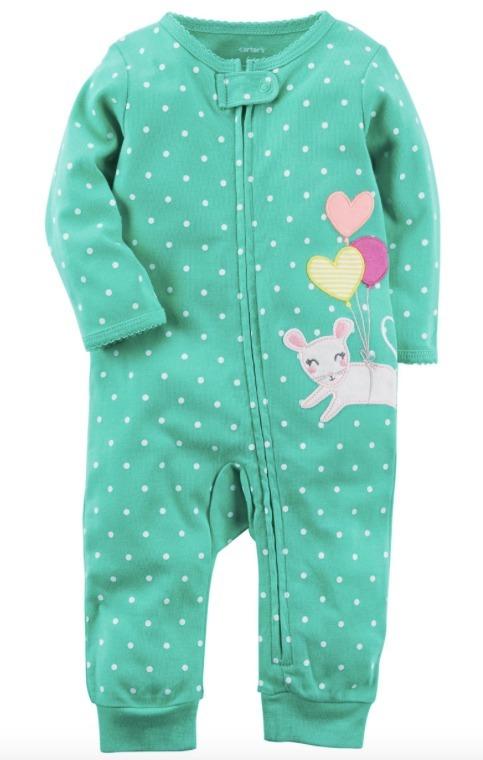 ecbc97045 Pijama Enterito Nena Algodon 9m - Carters - Nuevo - $ 850,00 en ...