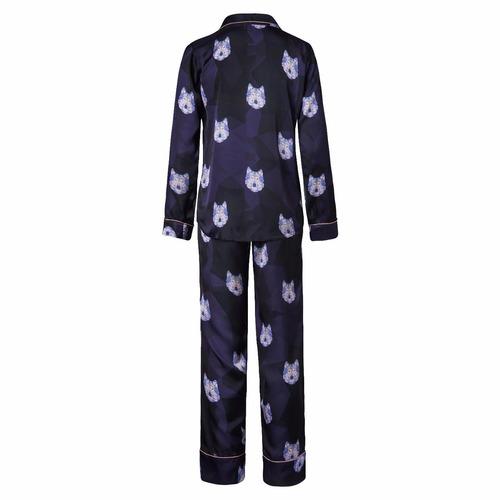 pijama estampado charlotte wolf de pantalón y camisa en seda