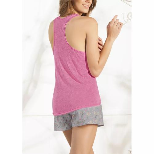 pijama estampado incluye camiseta short cómoda rosa 1279634