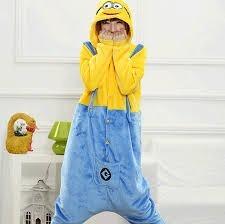 a3a4c483a7 Pijama Fantasia Kigurumi Infantil Minions Pronta Entrega - R  129