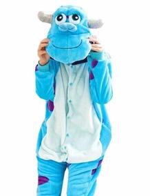 9ced4a4ef2d815 Pijama Fantasia Pelúcia Mostros S A Sulivan Criança Inverno