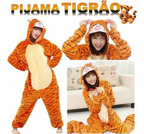 1f1931a4e41fcd Pijama Fantasia Tigrão Cosplay Tigre Flanelado Promoção