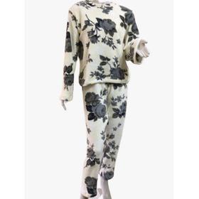 Pijama Feminino Adulto Inverno Em Soft Estampa Floral