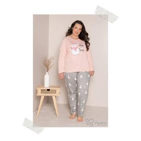e3781aa3edaf39 Pijama Feminino Algodão Plus Size