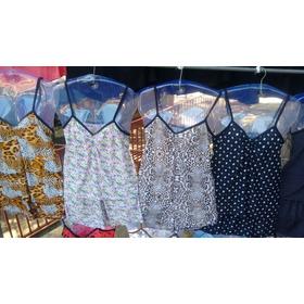 Pijama Feminino De Liganete (coleção 2016) Estampas Rotativa