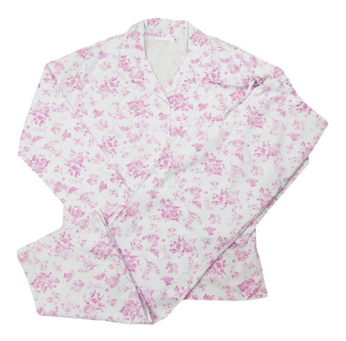 pijama feminino florido dove flanelado