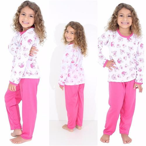pijama feminino infantil manga longa 077 | roupas de menina