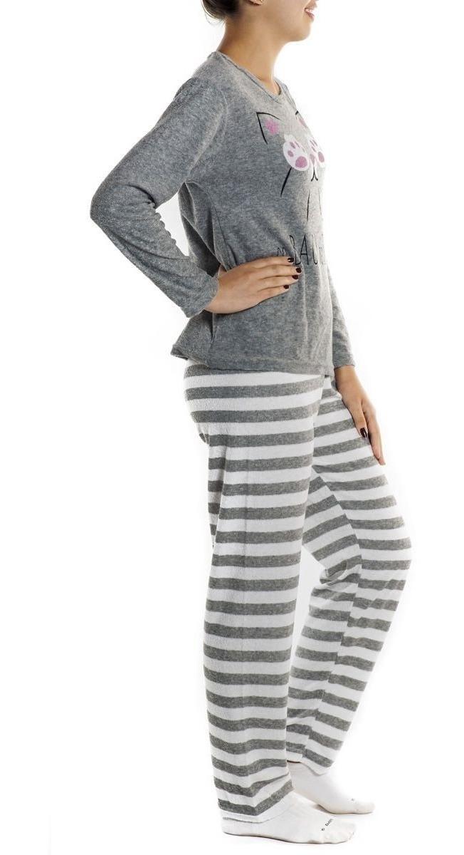 0b5dcb08b205 pijama feminino inverno longo frio plush adulto victory. Carregando zoom.