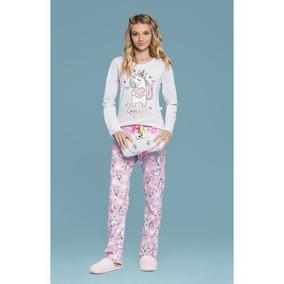 d01302be59452e Pijama Feminino Ml 14082 - Mensageiros Dos Sonhos - Branco
