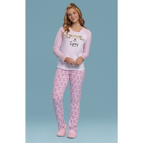 31d712ed97299d Pijama Feminino Ml 14817 - Mensageiros Dos Sonhos - Branco/