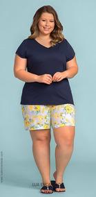 d07b1a841a9e02 Pijama Feminino Plus Size Curto Short Doll Tamanho Grande