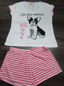 1cfe3aa6a71dd3 Pijama Feminino Silk Cachorro! Novo