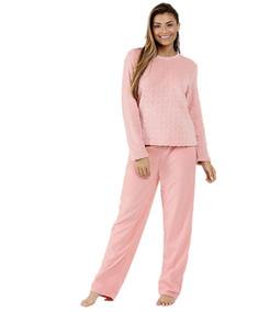 5afb04c75e62dc Pijama Feminino Soft Manga Longa