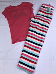 Nuevo Gap Niñas Esqueleto Halloween Rosa 2 Piezas Pijama 3 Años Pantalones Pijamas