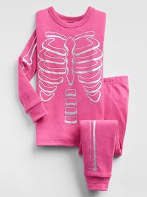 Ropa, Calzado Y Complementos Nuevo Gap Niñas Esqueleto Halloween Rosa 2 Piezas Pijama 3 Años Pantalones