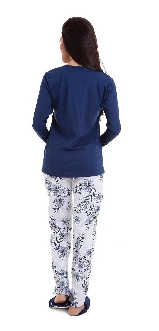 ea727531b81980 Pijama Gestante Amamentação Inverno - Luna Cuore 6002