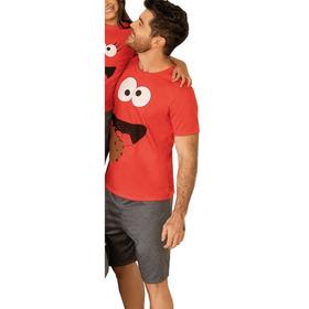 Pijama Hombre Pantalón Short Camiseta Manga Corta
