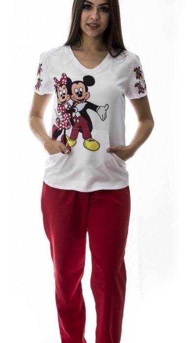 c5efc97d7 Pijama Hospitalar Feminino Minnie E Mickey Faíko Jalecos - R$ 149,00 ...