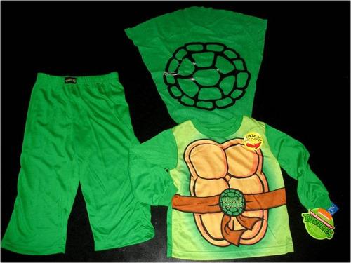 pijama importada niño tortuga ninja capa tallas 3 nick