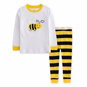 6cc9d7e106c242 Pijama Infantil 6-7 Anos Malha Abelha Importado